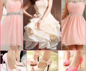 dresses, heels, and pink image
