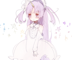 anime, anime girl, and star image