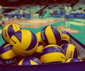 love, sport, and volleyball image