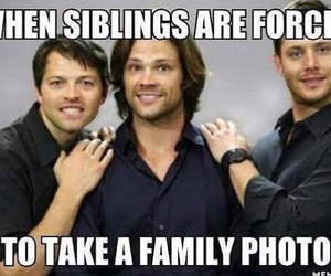 funny, supernatural, and siblings image