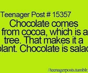 chocolate, salad, and funny image