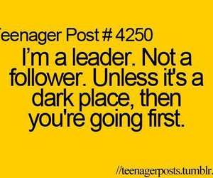dark, leader, and post image