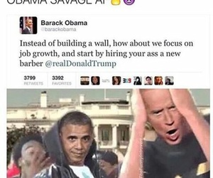 barack obama, funny, and donald trump image