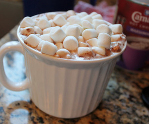 drink, food, and marshmallow image