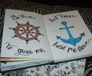 anchor, text, and art image