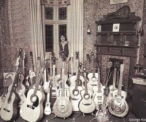 george harrison, guitar, and Paul McCartney image
