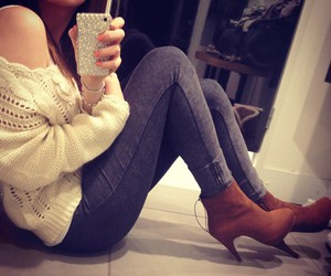 fashion, iphone, and girl image