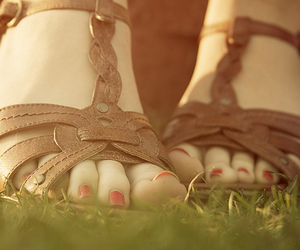 sandals, feet, and pretty image