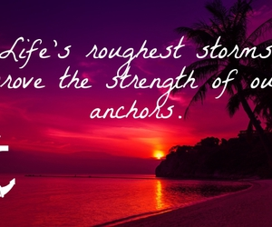 anchor, beach, and girly image