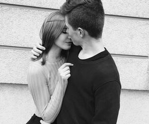 love, hug, and black and white image