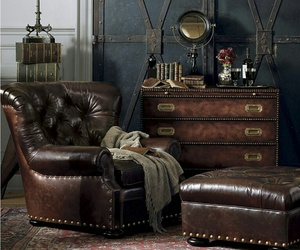 home decor, leather chair, and leather furniture image