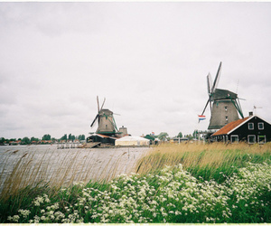 windmills and landscape image