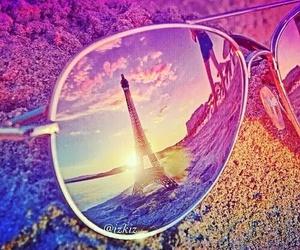 paris, summer, and sunglasses image