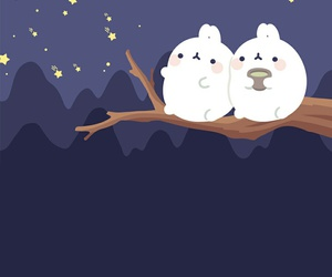 wallpaper, cute, and molang image