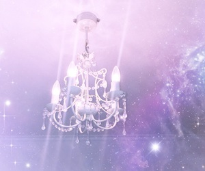 chandelier, galaxy, and pastel image