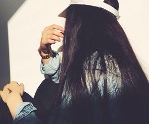 blackhair, cap, and fashion image