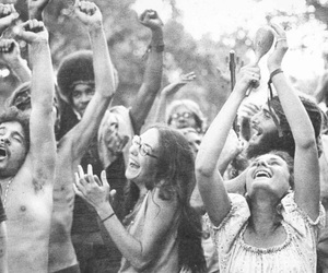 hippie, peace, and people image
