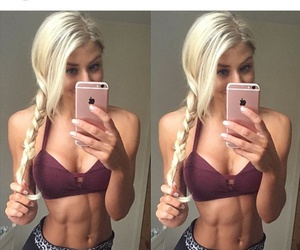 abs, exercise, and blonde image