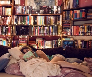 bibliotheque, livre, and Chambre image