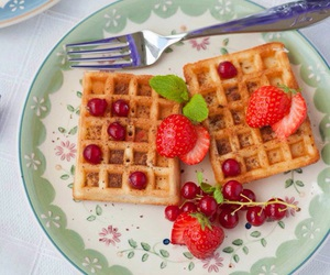 strawberry and waffles image