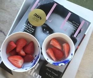 Elle, magazine, and strawberry image