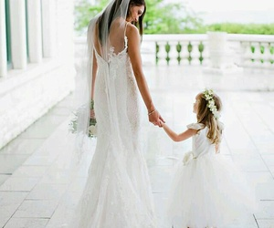 wedding, beautiful, and dress image