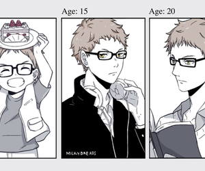 haikyuu, anime, and tsukishima image