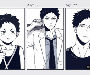 haikyuu, anime, and iwaizumi image