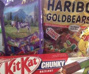 chocolate, haribo, and kit kat image