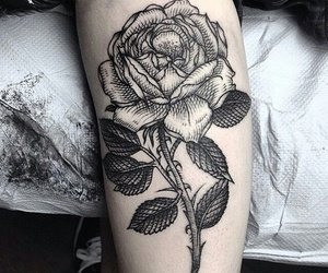 tattoo, rose, and indie image