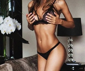 curves, lingerie, and fitness image