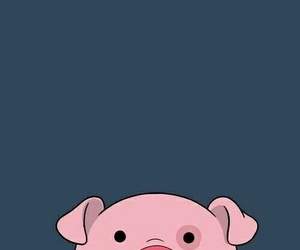 blue, pig, and pink image