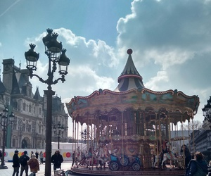 beautiful, carousel, and france image