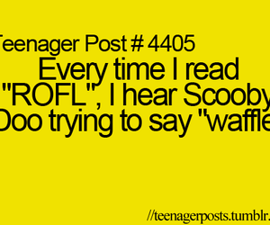 lol, rofl, and scooby doo image