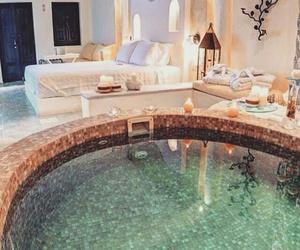 luxury, pool, and bedroom image