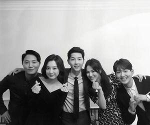descendants of the sun, dots, and Onew image