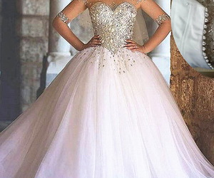 ball gown, long sleeves, and ❤ image