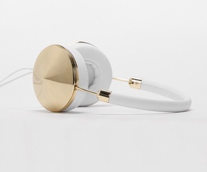 gold, headphones, and accessories image