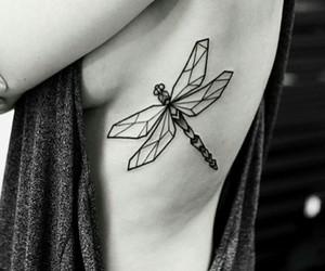 tattoo, libelula, and dragonfly image