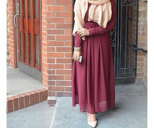hijab, style, and red image