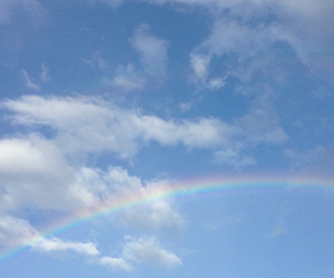 blue, rainbow, and sky image