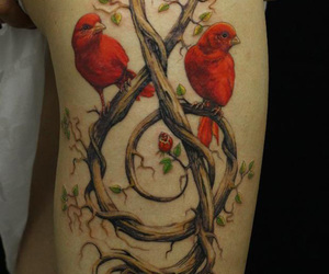 tattoo, bird, and music image