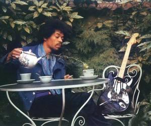 guitar, Jimi Hendrix, and tea image