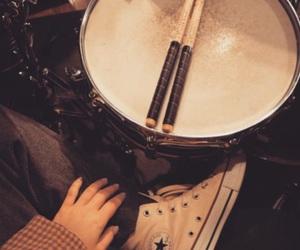 band, check, and drummer image