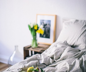 bed, food, and breakfast image