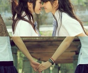 asian, lesbian, and girls image
