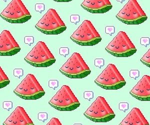 fruit, kawaii, and watermelon image
