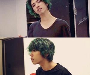green hair, one ok rock, and taka image