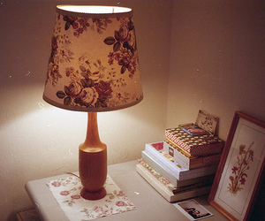 vintage, lamp, and floral image