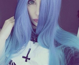 blue, colorful, and hair image